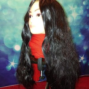 Long thick wavy black wig J f 2088